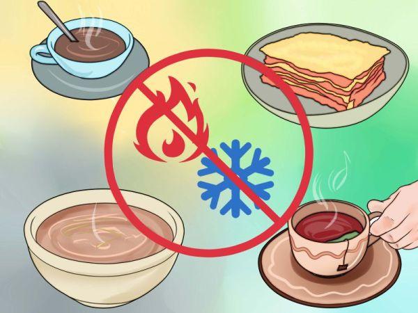Больной зуб будет доставлять дискомфорт при употреблении холодной и горячей пищи